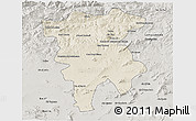 Shaded Relief 3D Map of Mila, semi-desaturated