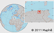 Gray Location Map of Mila