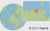 Savanna Style Location Map of Mila