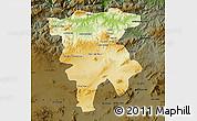 Physical Map of Mila, darken