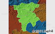 Political Map of Mila, darken