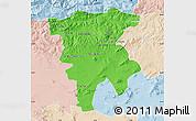 Political Map of Mila, lighten