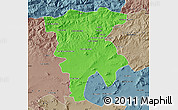 Political Map of Mila, semi-desaturated