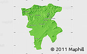 Political Map of Mila, single color outside