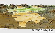 Physical Panoramic Map of Mila, darken