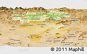 Physical Panoramic Map of Mila, satellite outside