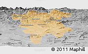 Satellite Panoramic Map of Mila, desaturated
