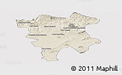 Shaded Relief Panoramic Map of Mila, cropped outside