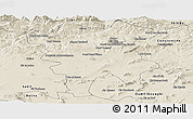 Shaded Relief Panoramic Map of Mila