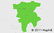 Political Simple Map of Mila, single color outside