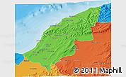 Political 3D Map of Mostaghanem