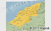 Savanna Style 3D Map of Mostaghanem