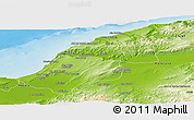 Physical Panoramic Map of Mostaghanem