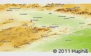 Physical Panoramic Map of Msila