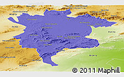 Political Panoramic Map of Msila, physical outside