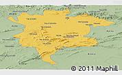 Savanna Style Panoramic Map of Msila
