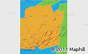 Political 3D Map of Naama