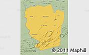 Savanna Style 3D Map of Naama