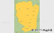 Savanna Style Simple Map of Naama
