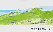 Physical Panoramic Map of Oran