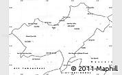 Blank Simple Map of Oran