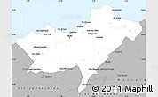 Gray Simple Map of Oran