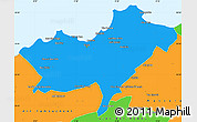 Political Simple Map of Oran