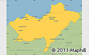 Savanna Style Simple Map of Oran