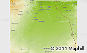 Physical 3D Map of Ouargla