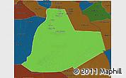 Political 3D Map of Ouargla, darken