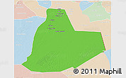 Political 3D Map of Ouargla, lighten