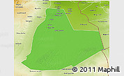 Political 3D Map of Ouargla, physical outside