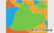 Political 3D Map of Ouargla