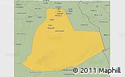 Savanna Style 3D Map of Ouargla