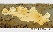 Physical 3D Map of Oum El Bouaghi, darken