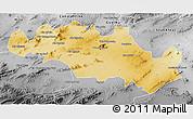 Physical 3D Map of Oum El Bouaghi, desaturated