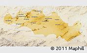 Physical 3D Map of Oum El Bouaghi, lighten