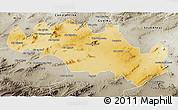 Physical 3D Map of Oum El Bouaghi, semi-desaturated