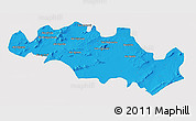 Political 3D Map of Oum El Bouaghi, single color outside