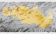 Physical Map of Oum El Bouaghi, desaturated