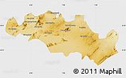 Physical Map of Oum El Bouaghi, single color outside