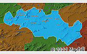 Political Map of Oum El Bouaghi, darken