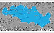 Political Map of Oum El Bouaghi, desaturated