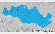 Political Map of Oum El Bouaghi, lighten, desaturated