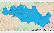 Political Map of Oum El Bouaghi, lighten