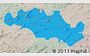 Political Map of Oum El Bouaghi, lighten, semi-desaturated