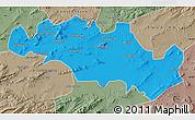 Political Map of Oum El Bouaghi, semi-desaturated