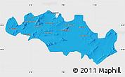 Political Map of Oum El Bouaghi, single color outside