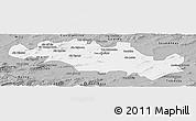 Gray Panoramic Map of Oum El Bouaghi