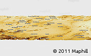 Physical Panoramic Map of Oum El Bouaghi